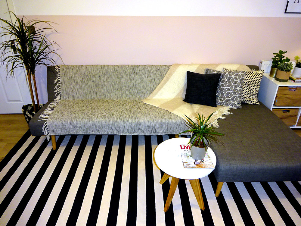darlings of chelsea catamaran stripe navy blue rug
