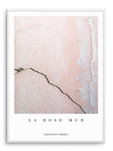 la rose mur blush grey and white print olive et oriel the room alive