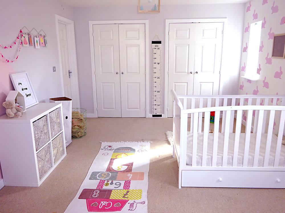 girls bedroom after makeover