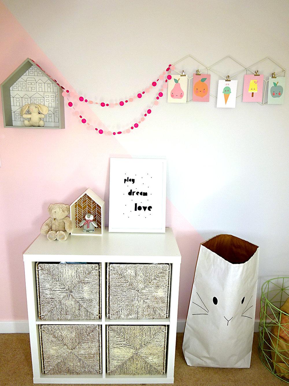 girls bedroom house shelf storage bag