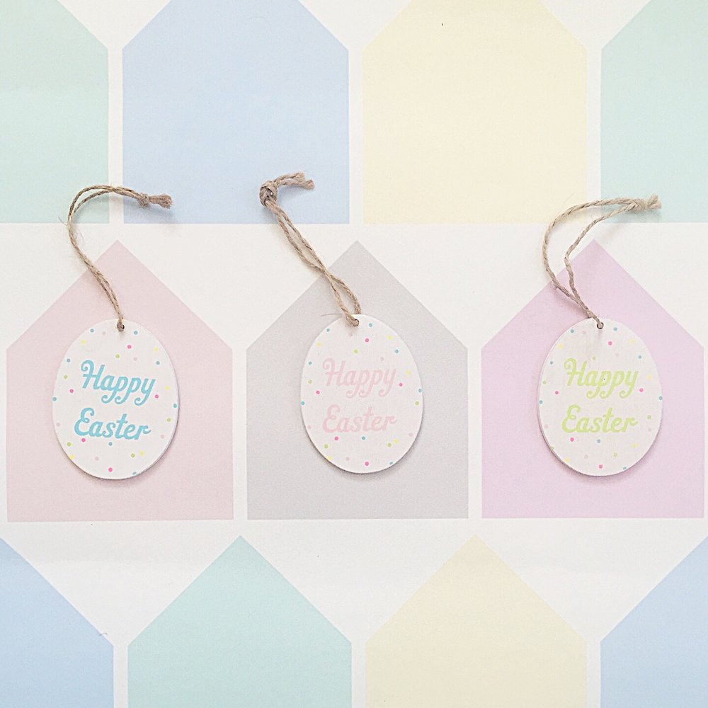 Happy Easter hanging decorations £3 for set of three