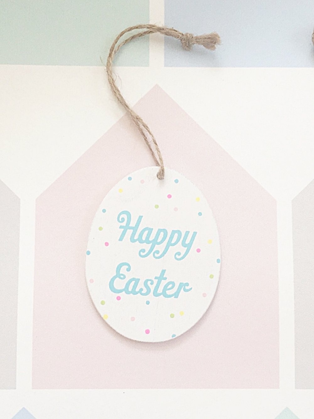 Happy easter hanging decoration the room alive