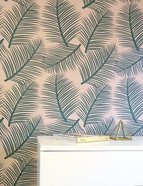 Palm Leaf Garden Wallpaper