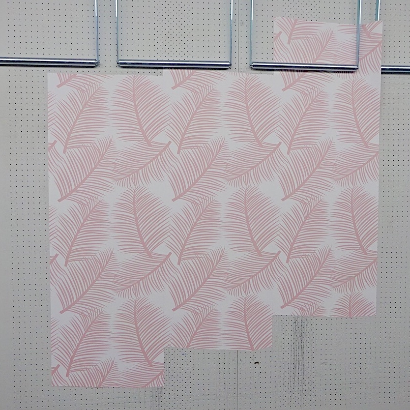 Palm Leaf Garden in Blush  just before the final printing