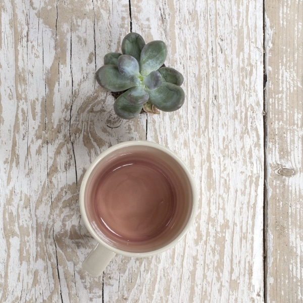 A Millennial pink mug is what you need, according to  British Vogue , so here is one of the best.  Joy Mug £5.90 on sale now