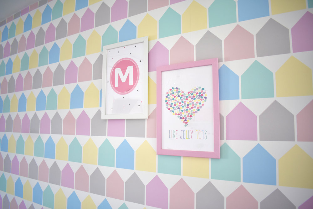pastel prints nursery bella rose and may