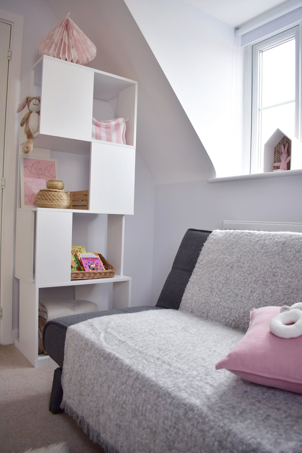 nursery corner bookcase