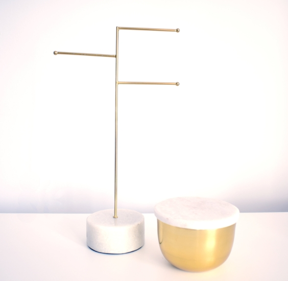 Marble & Brass Jewellery Holder £19 , Storage Bowl £18
