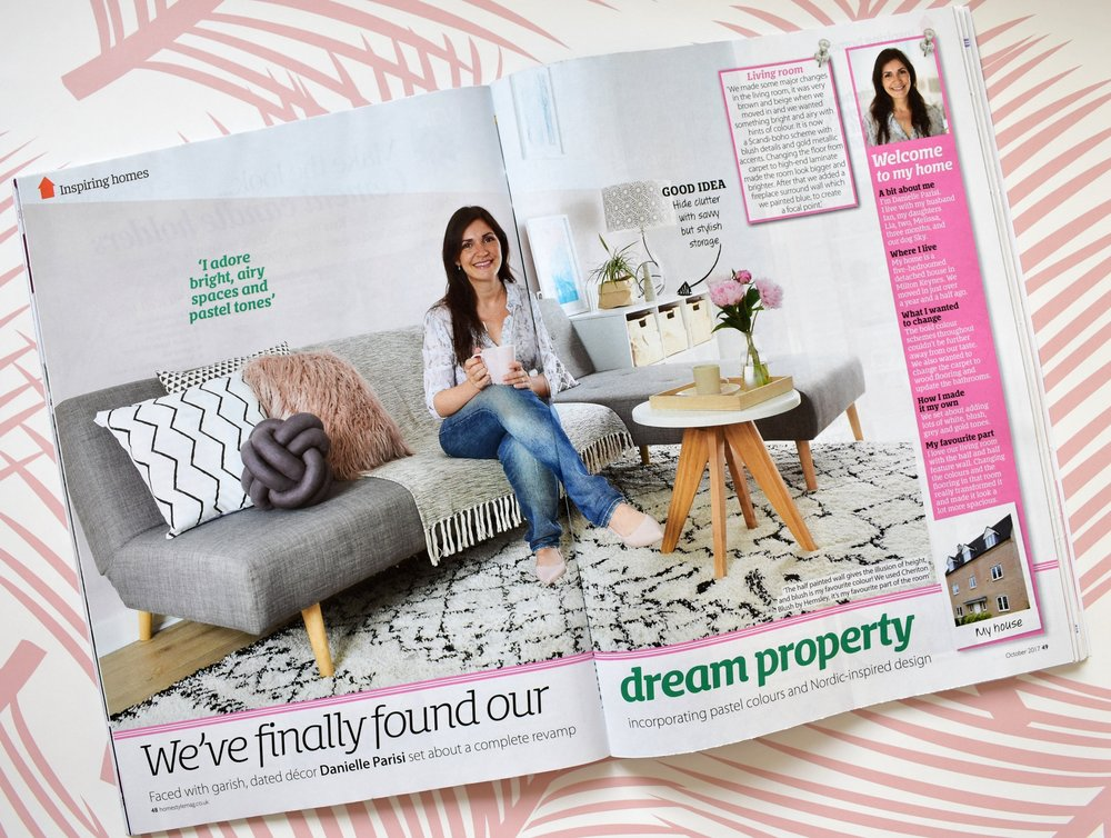 The first page of our feature on Home Style Magazine October 17 Issue