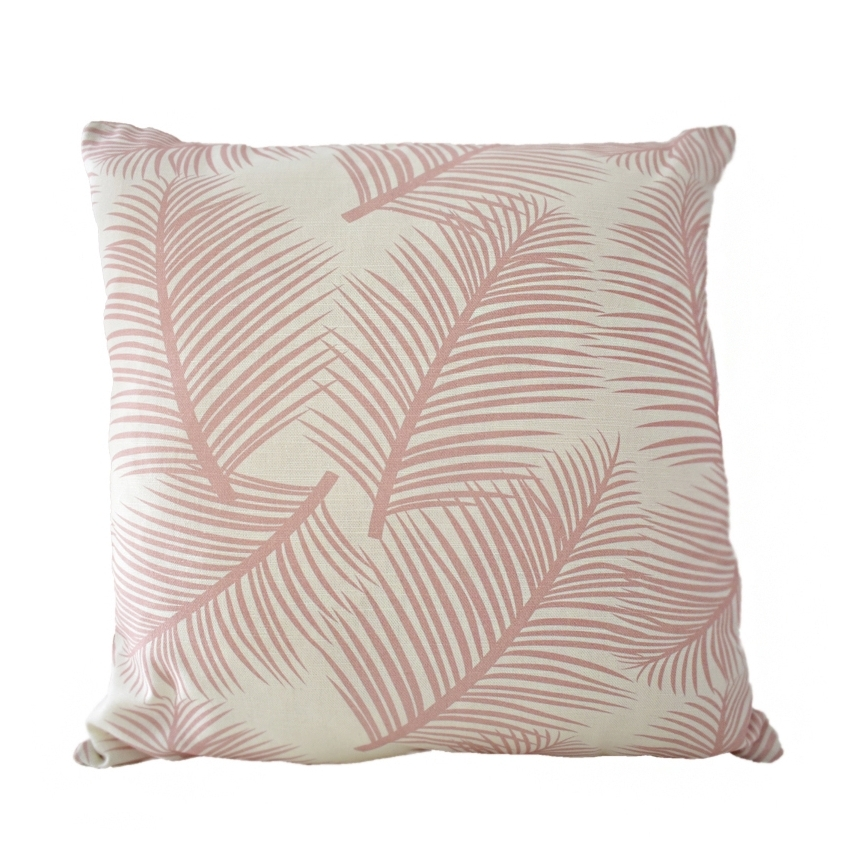 Palm Leaf Garden Cushion Blush
