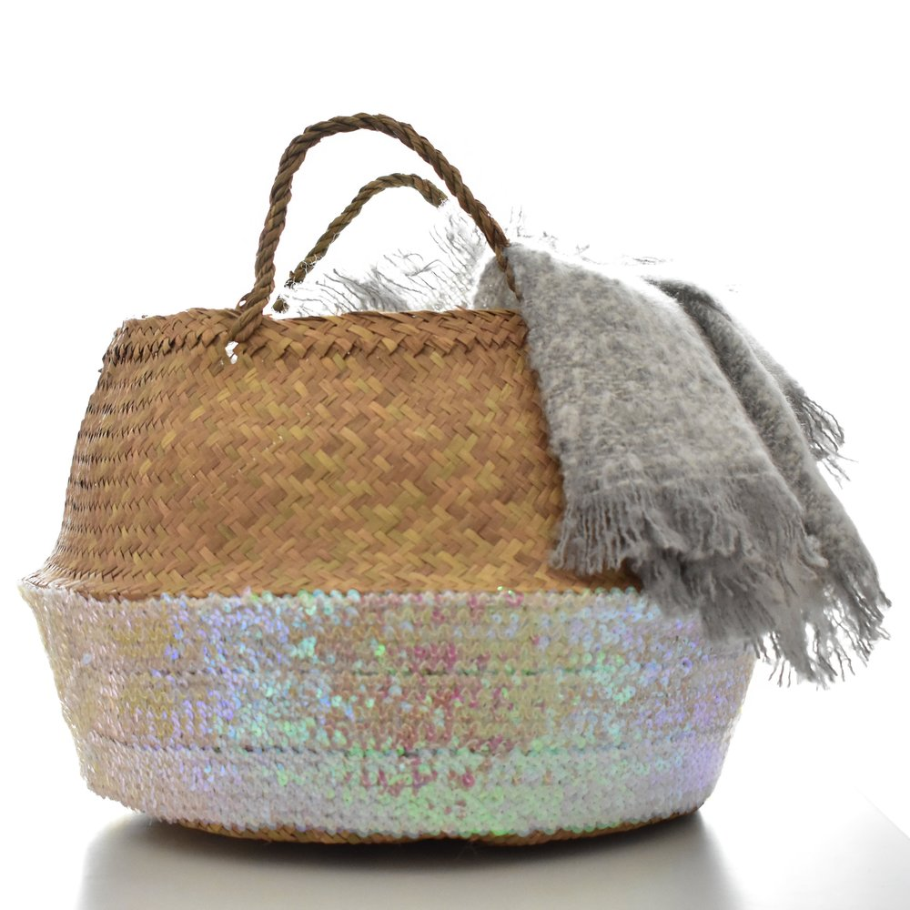 Toulouse Rose Sequin Basket £28