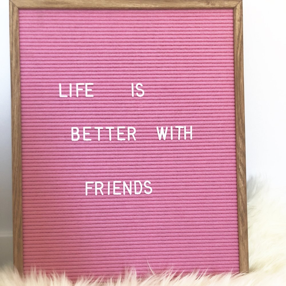 pink felt message board