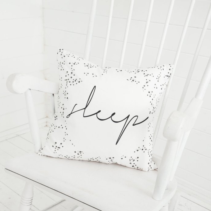 sleep scandi monochrome cushion