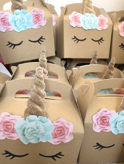 unicorn party boxes favour