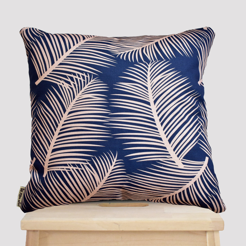 pink blue palm leaf cushion stool.jpg