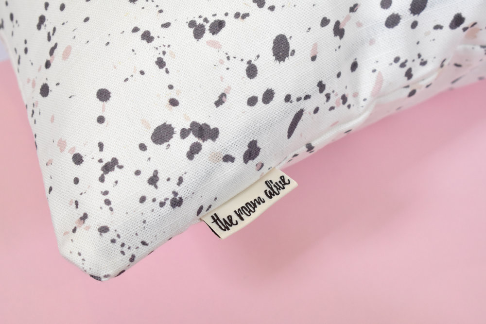 artist brush dots tag cushion pink white grey.jpg