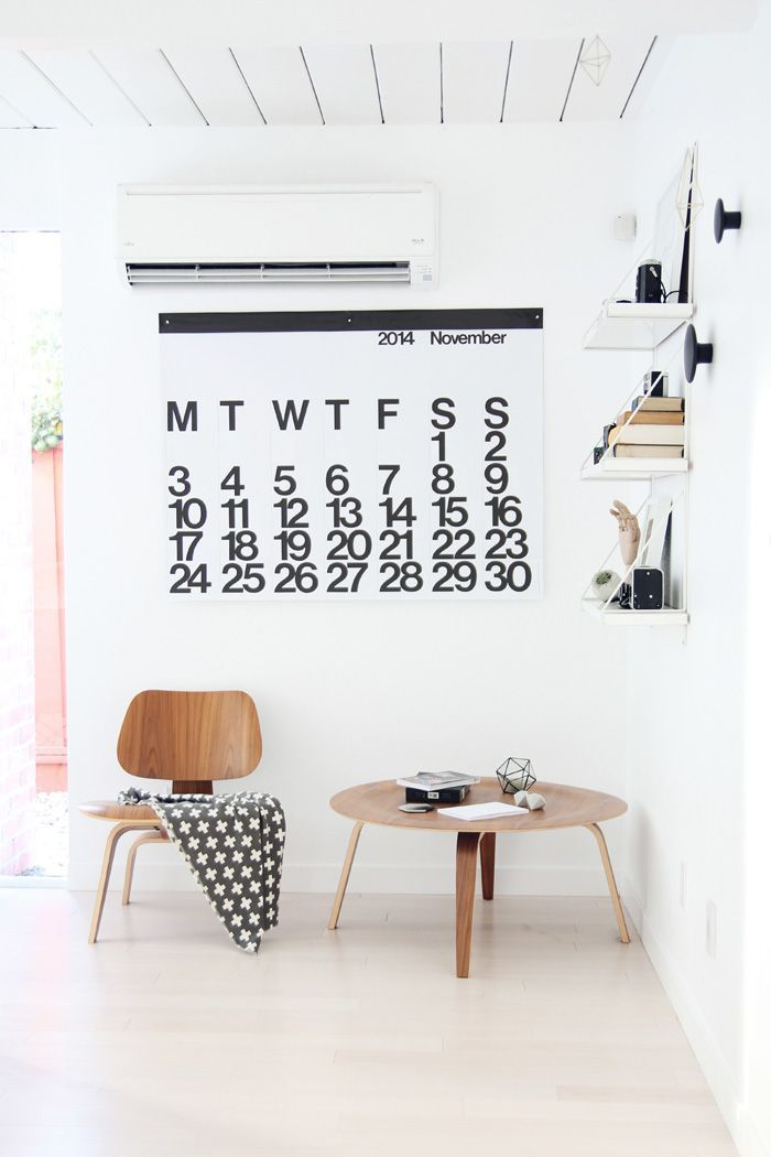 The perfect monochrome scheme for the  Stendig Calendar