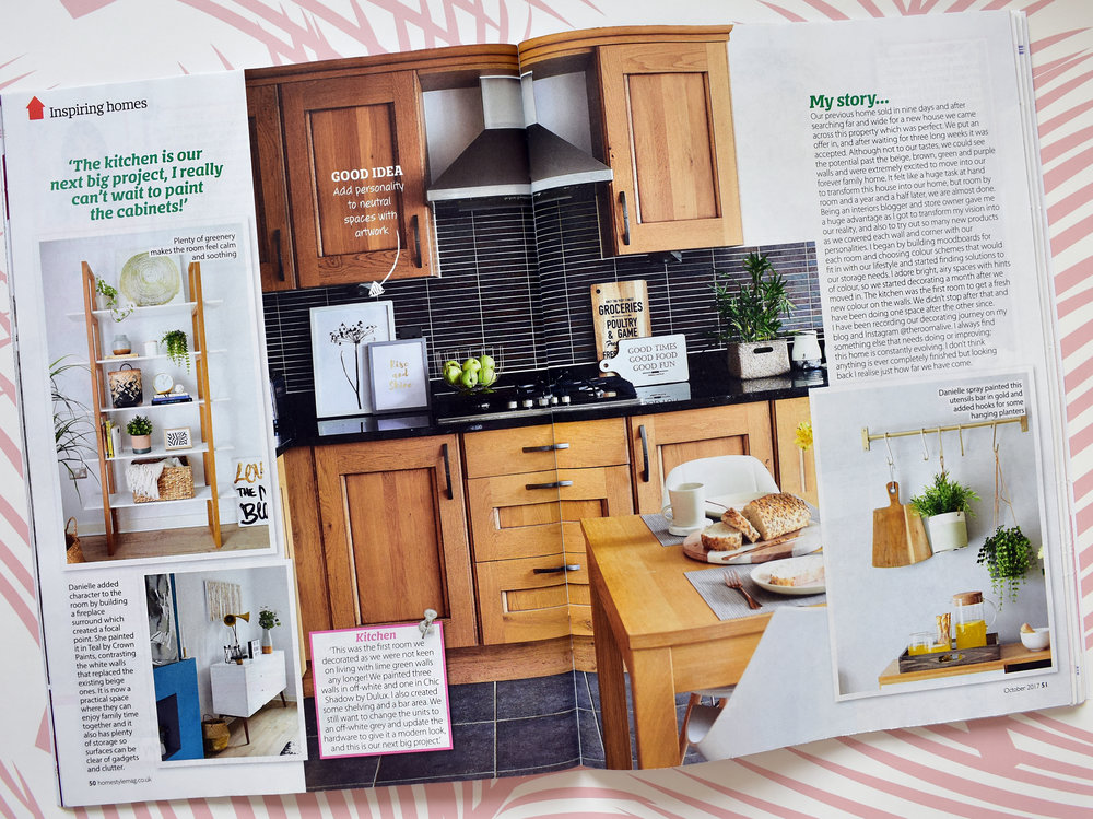 The 'before' kitchen as it was photographed for Home Style Magazine in June 2017