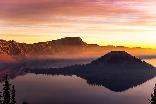 Sunrise at Crater Lake, OR