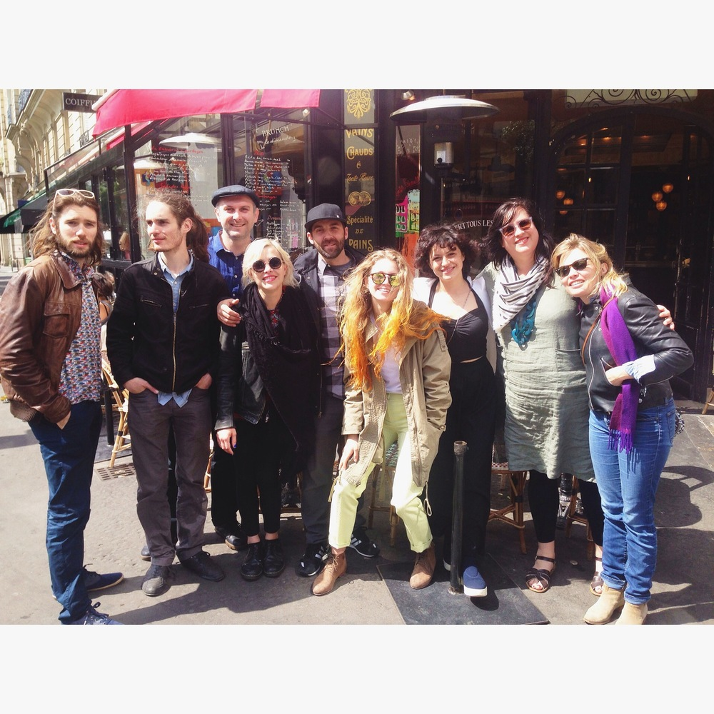 It's a wrap! Crew brunch in the marais neighborhood in Paris