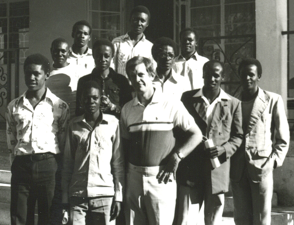 Allen with students (1981)
