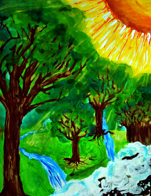 Paper Acrylic / Watercolor July 2012