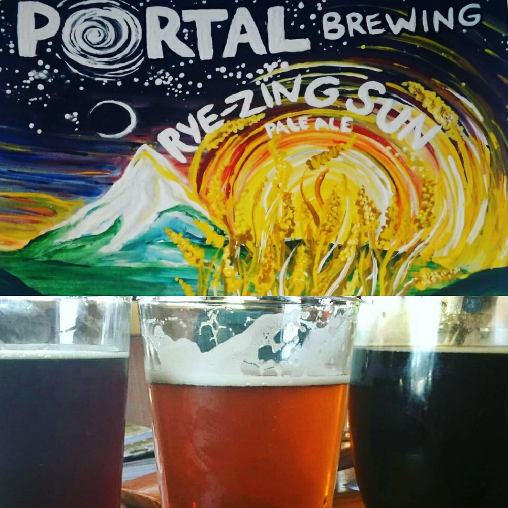 Fiinal piece with a round of tasty brews from Portal Brewing in downtown Medford, Oregon. CHEERS!