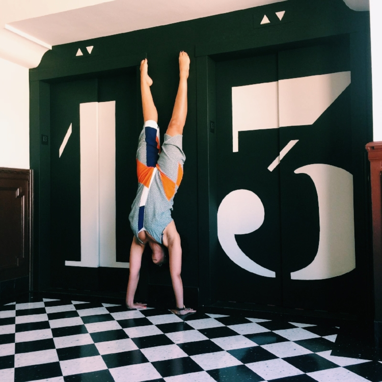 yoga handstand The Ace Hotel LA
