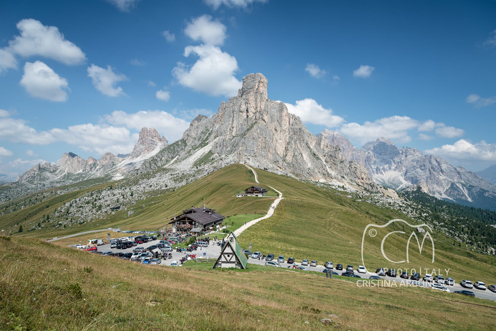 View of Giau Pass, Dolomites, Italy