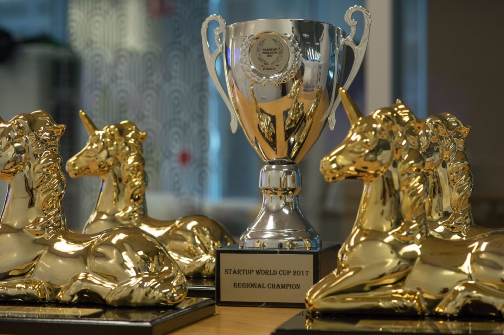 The Australasian Startup Award Trophies align with this year's 'Bonfire of the Unicorns' theme