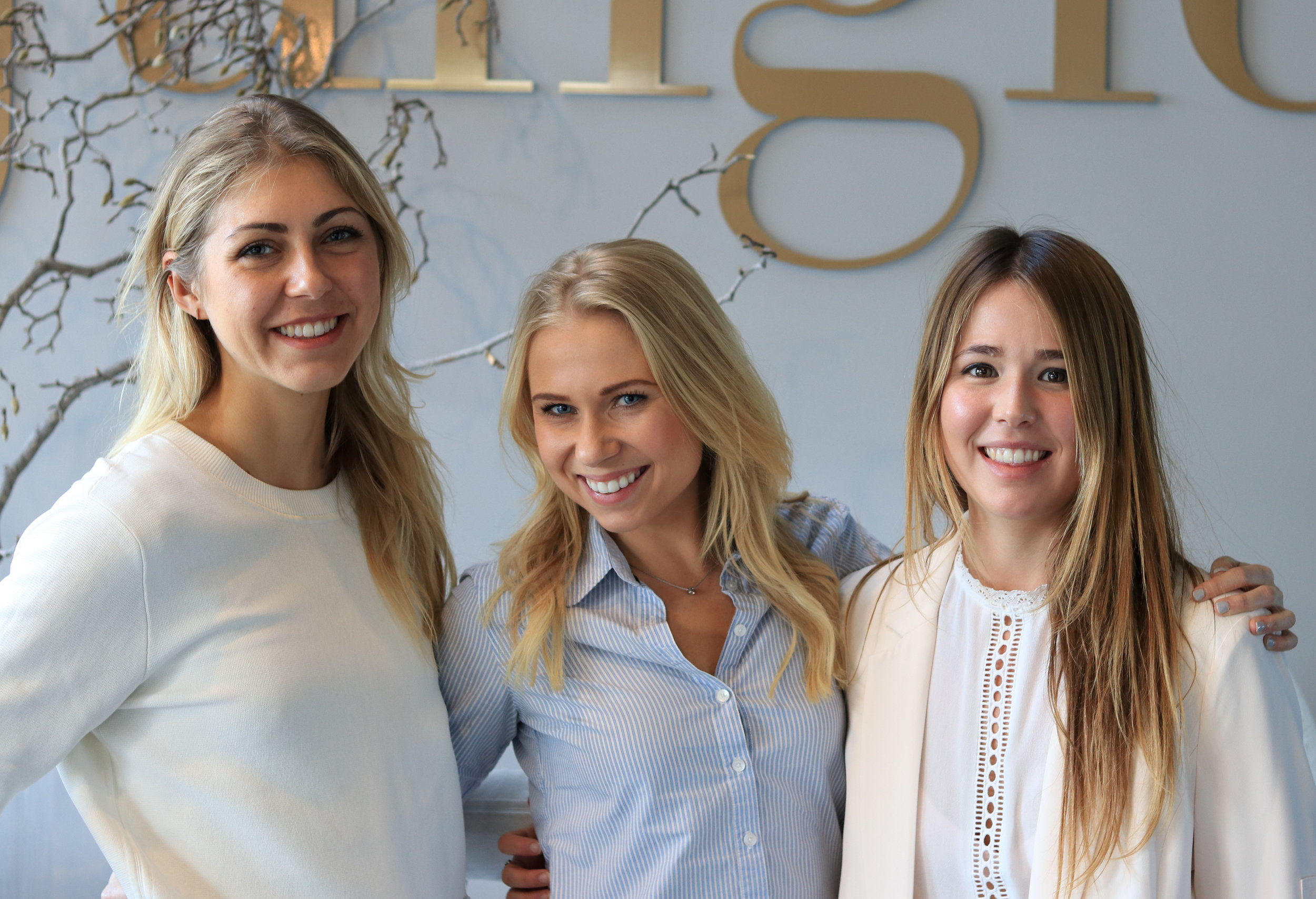 Founder of Triangles, Holly Stephens (middle)