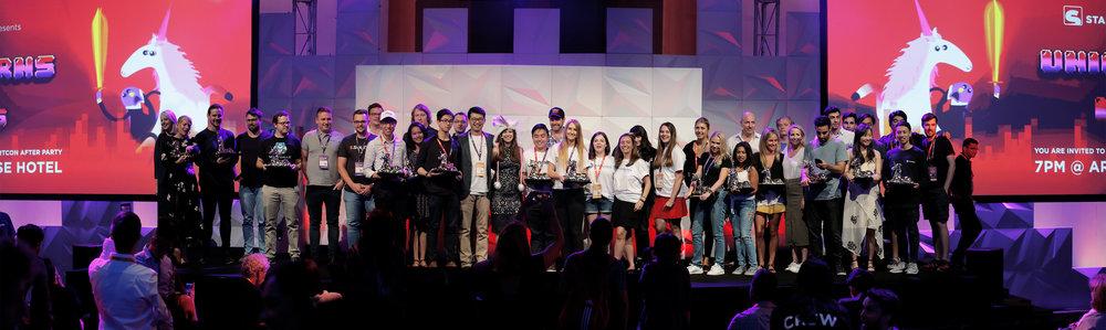 The Australasian Startup Award winners on stage