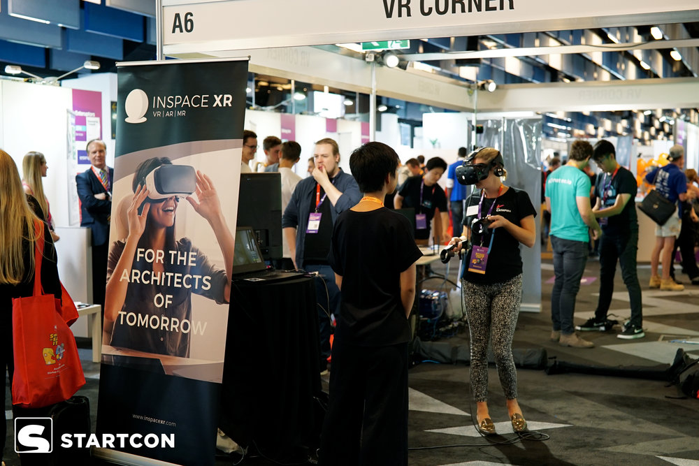 The startup expo on the Ground Floor of the Royal Randwick Racecourse