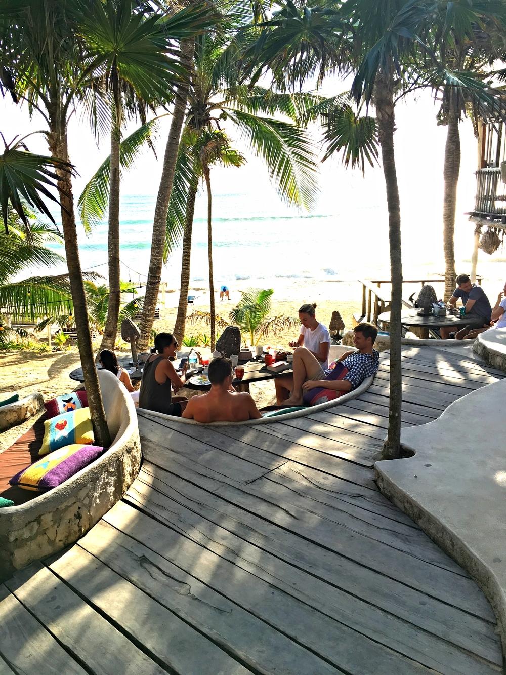 Papaya Playa deck