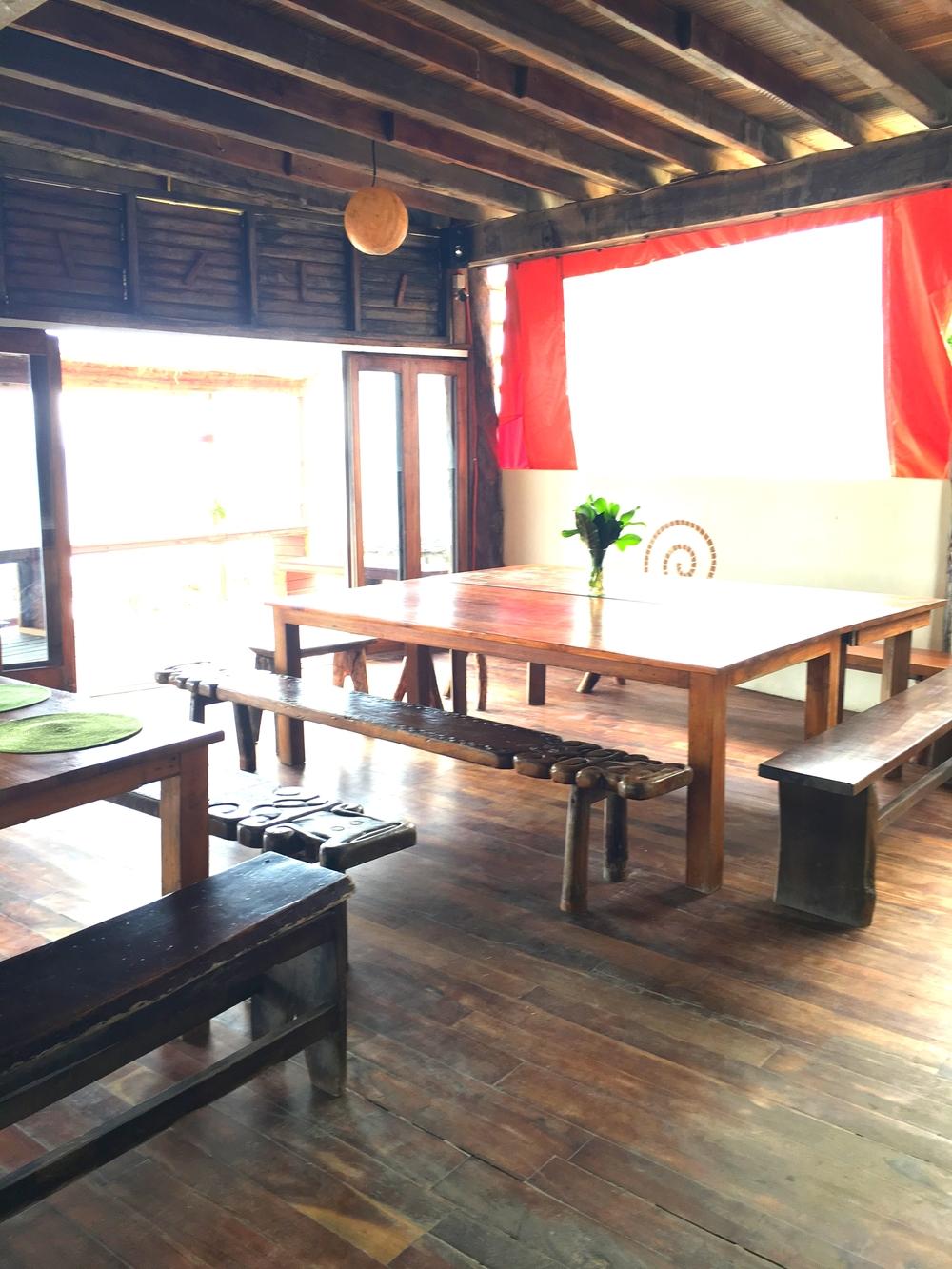 Inside of the restaurant at Amansala