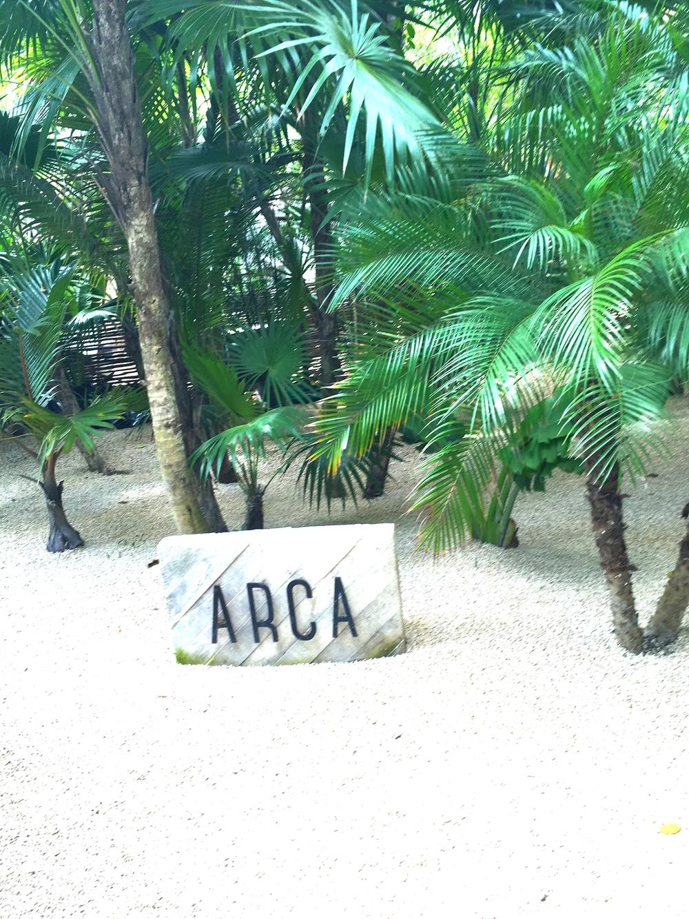 Entrance to Arca