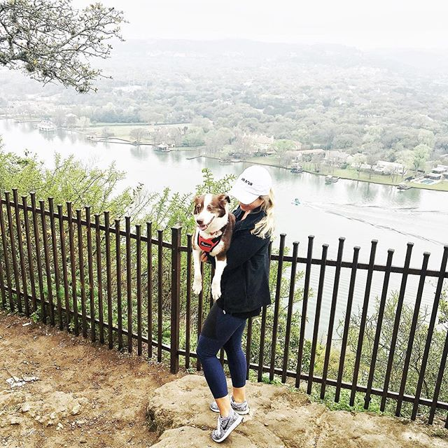 Self-care Sunday meant #DoingThings with Kitty the Dog 🐶(and the huz) around Austin today. Since the sxsw crowds were gone, we decided to be tourists in our own city and visit Mt Bonnell 🌿, grab ☕️ at Mozart's, and go for a walk/run around Town Lake. Not exactly a lazy Sunday but v fun nonetheless 🤗 • • • • #austin #supportlocal #shoplocal #travel #journey #destinations #wanderlust #wanderlife #wander #vacation #healthy #jetset  #paleo #coffee #vegan #organic #glutenfree #dairyfree #nondairy #coconut #creamer #coconutcreamer #wheredoyouwander #tourist #sxsw #nature #hiking