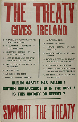 Poster supporting the Anglo-Irish Treaty of 1922