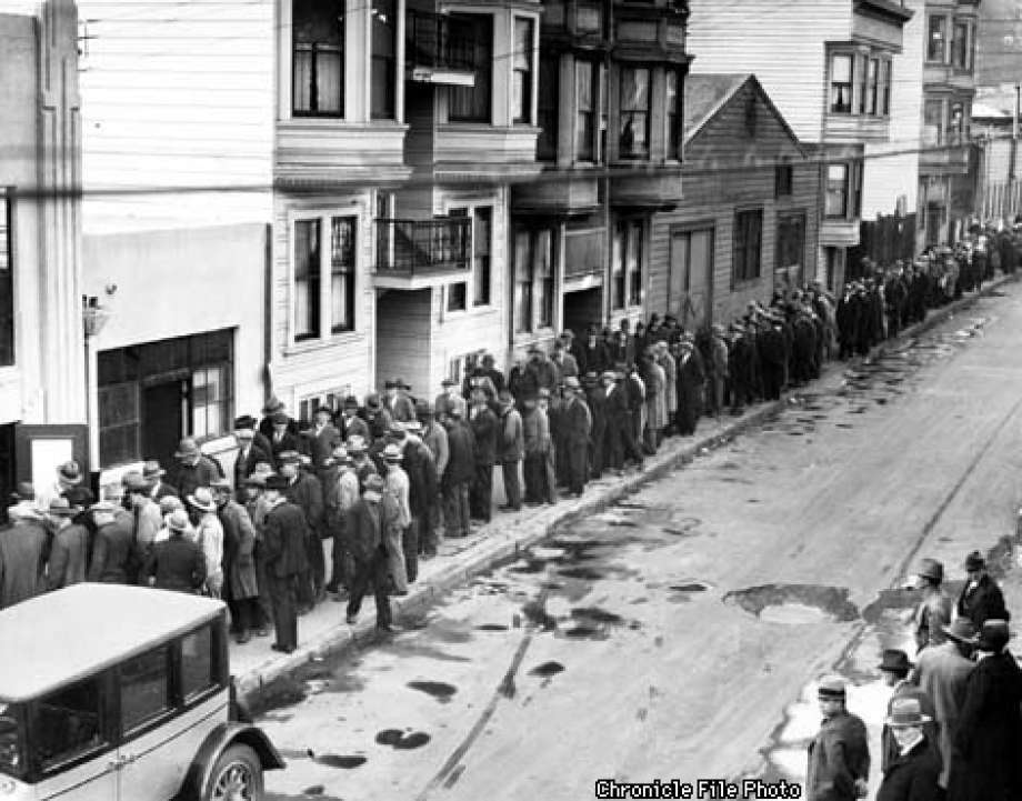A relief line in San Francisco