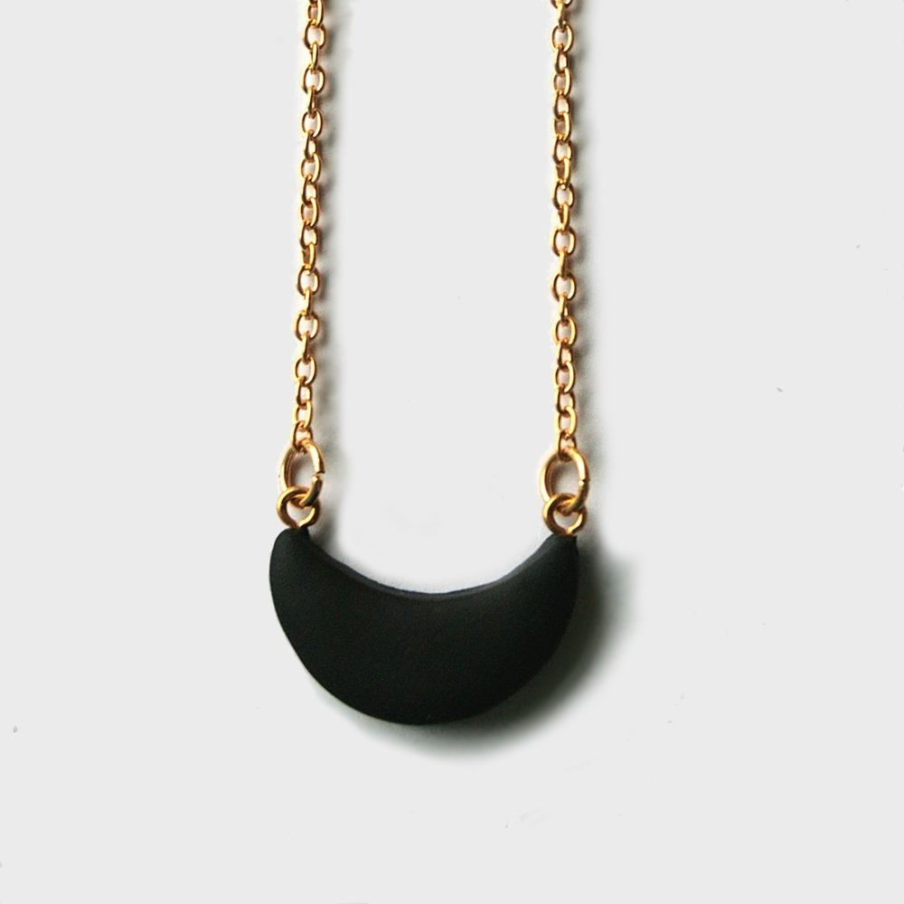 circe small crescent moon necklace matte black.jpg