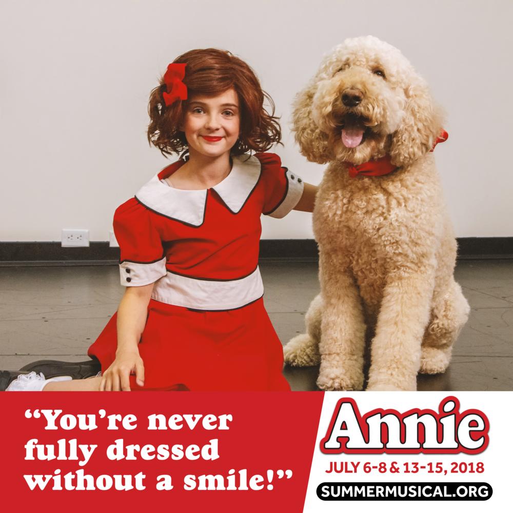 Annie The Musical FB frame