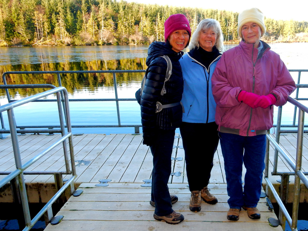 Candice, June and Beth at Teal Lake