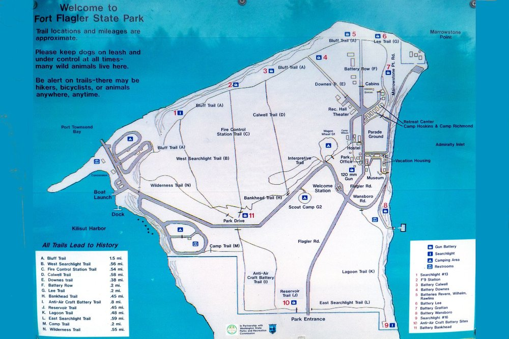 Fort Flagler offers many hiking routes – we hiked about 4 miles