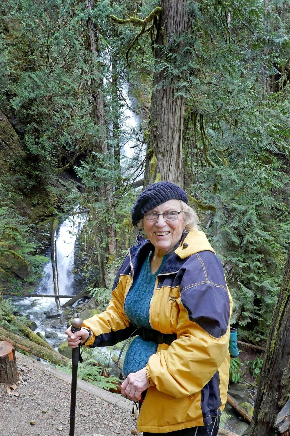 Alyce next to Murhut Falls