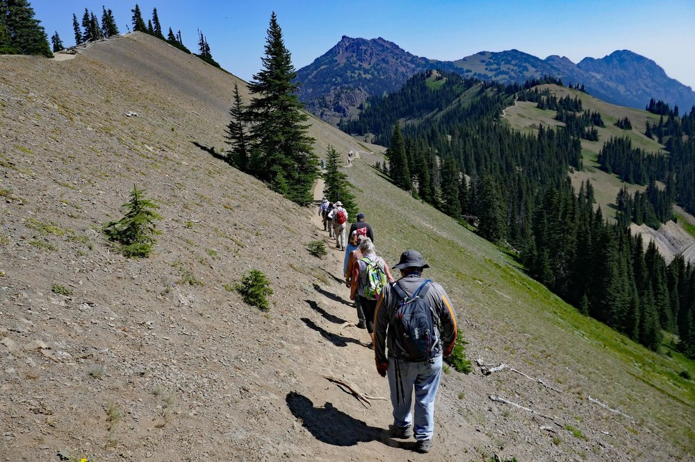 The hike is on the ridgeline – you can see the trail way off in the distance
