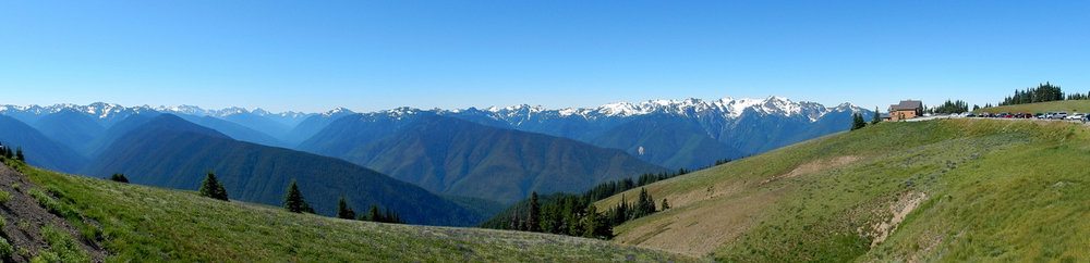 View from Hurricane Ridge parking lot