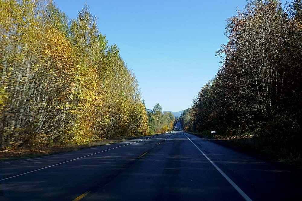 The drive home with the fall colors