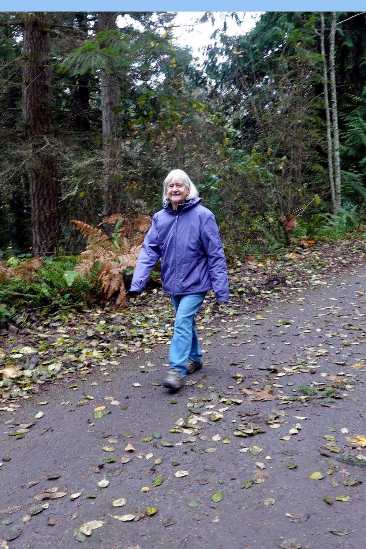 Doreen enjoying the hike