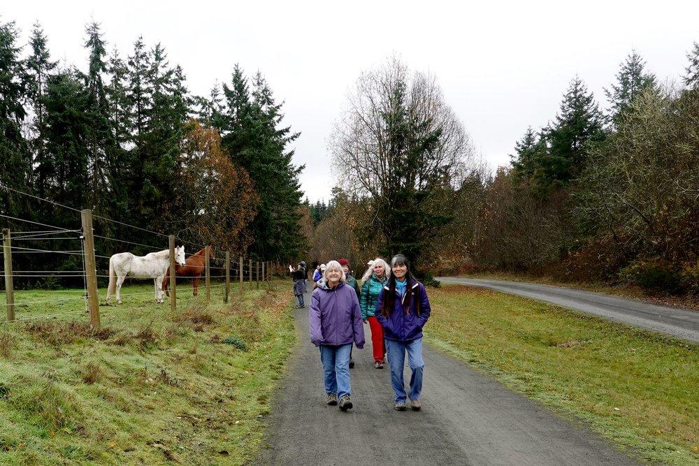 Doreen's type of hike-- she loves horses