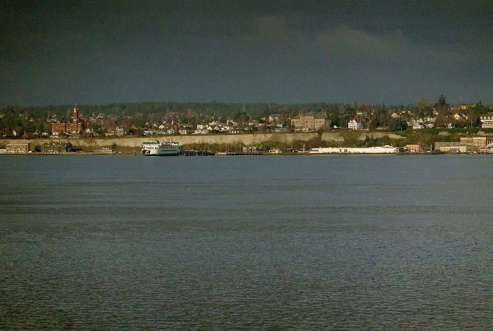 Port Townsend from across the water -- note the courthouse and ferry